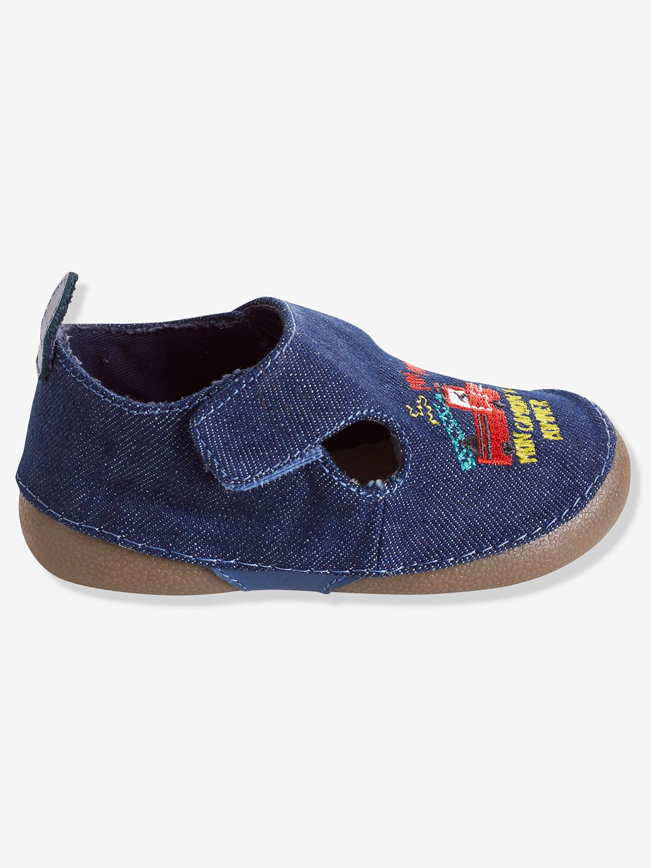 Baby Shoes in Denim Fabric Shoes