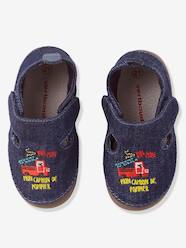 Shoes-Baby Footwear-Slippers-Baby Shoes in Denim Fabric