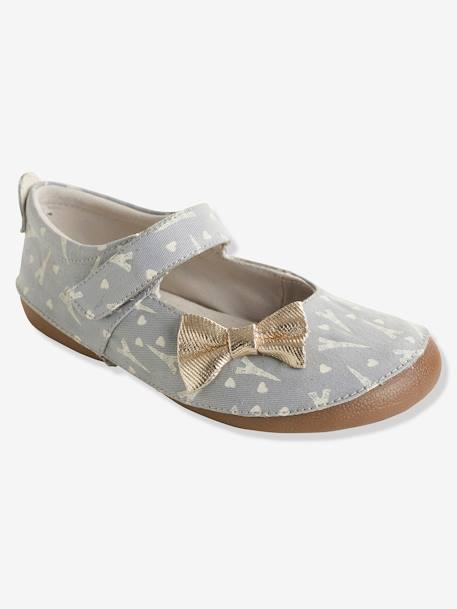 Girls' Shoes with Glow-in-the-Dark Print GREY MEDIUM  ALL OVER PRINTED