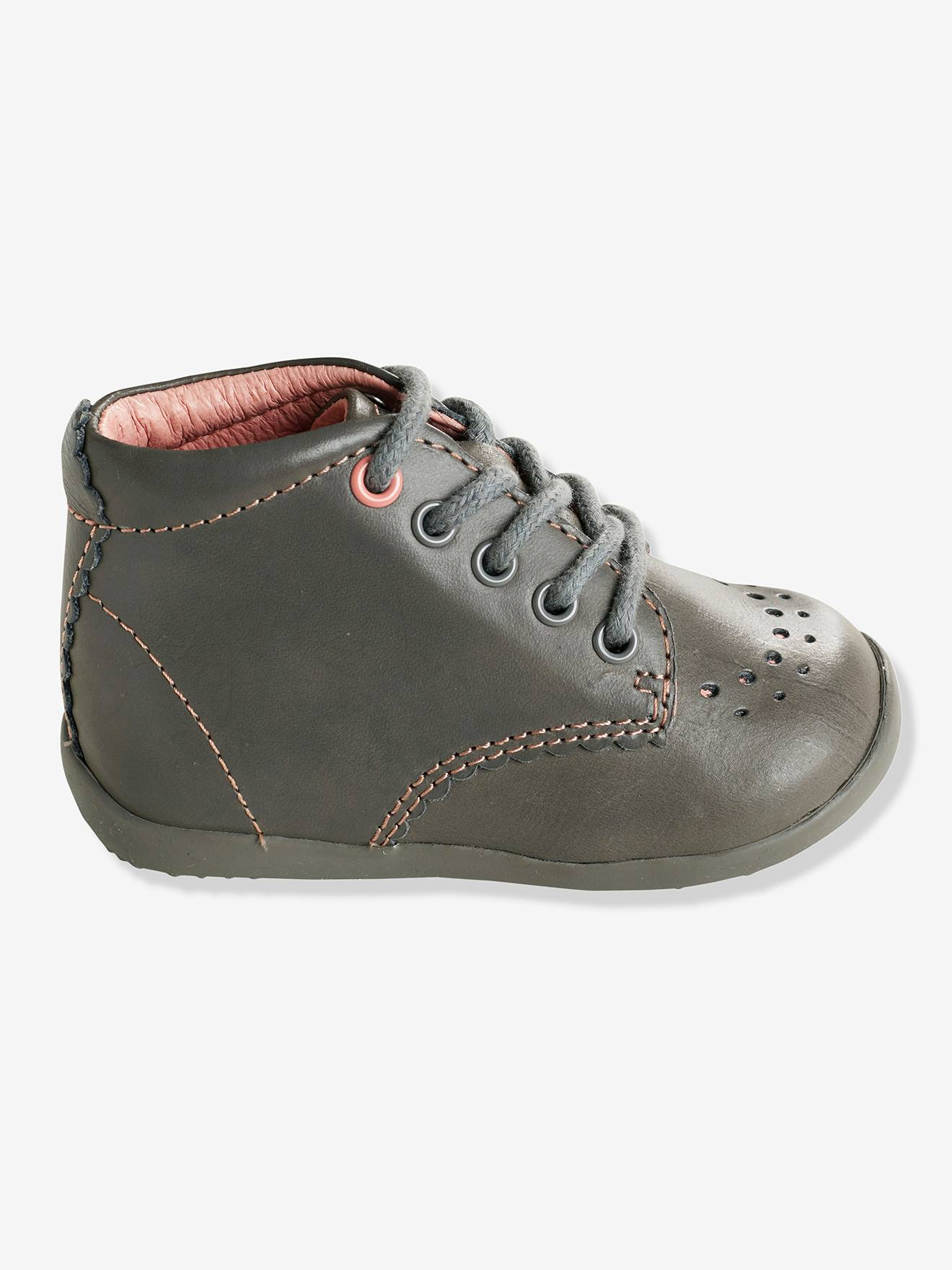 Girls Leather Ankle Boots Designed for First Steps Shoes