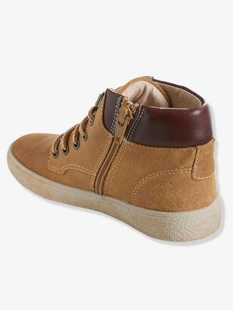 Boys' Leather Ankle Boots Camel