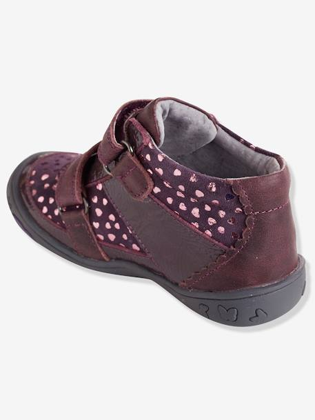 Girls' Leather Boots, Designed for Autonomy BLACK DARK SOLID+BLUE DARK ALL OVER PRINTED+PURPLE DARK SOLID WITH DESIGN