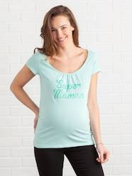Maternity-T-shirts & Tops-Maternity T-Shirt with Message