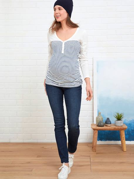 Regular Maternity Straight Jeans - Inside Leg 30' Denim brut