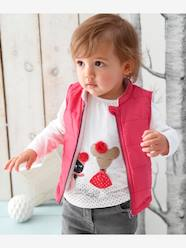 Baby Girls' T-Shirt with Glittery Mouse