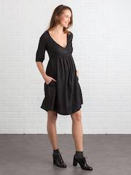 Maternity-Wrapover Maternity & Nursing Dress