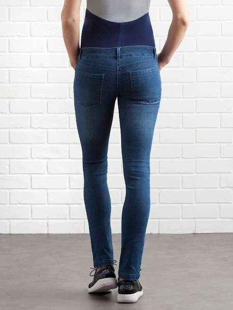 Maternity Slim Strech Jeans - Inside Leg 33' Black+BLUE DARK WASCHED+BLUE LIGHT WASCHED+Grey+Untreated