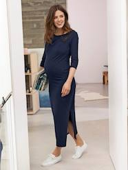 Long Maternity Tube Dress, with Slit