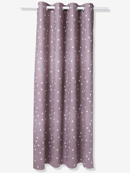 Hollow Star Starry Curtain Blue+Greige+PURPLE MEDIUM ALL OVER PRINTED