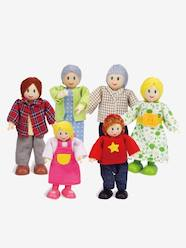 Toys-Playsets-Hape 6-piece Wooden Doll Set