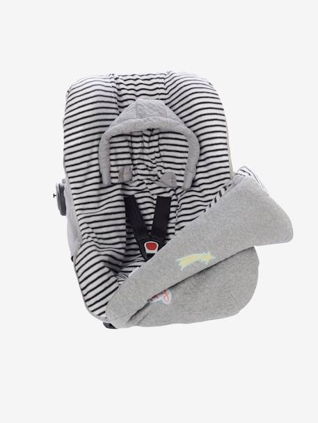 Jersey Knit Footmuff for Car Seat GREY LIGHT MIXED COLOR