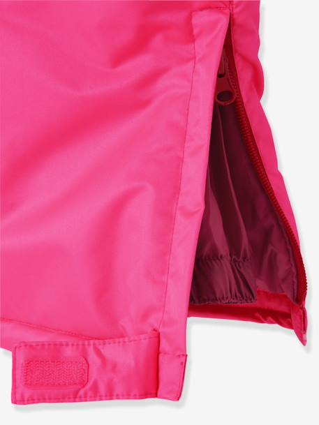 Girls' Ski Trousers PINK BRIGHT SOLID