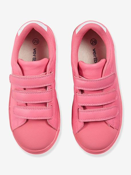 Trainers With Touch N Close Fastening Pink+White