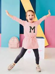 Girls-Girls' Fleece Dress & Leggings Set