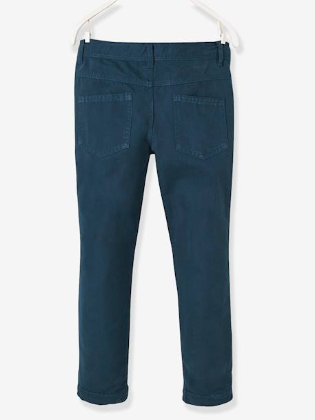 Boys' Indestructible Straight Cut Trousers BLUE DARK SOLID