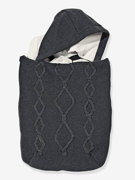 Cable Knit Footmuff for Car Seats Charcoal