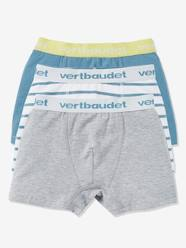 Boys-Underwear-Underpant & Boxers-Boys' Pack of 3 Stretch Boxer Shorts