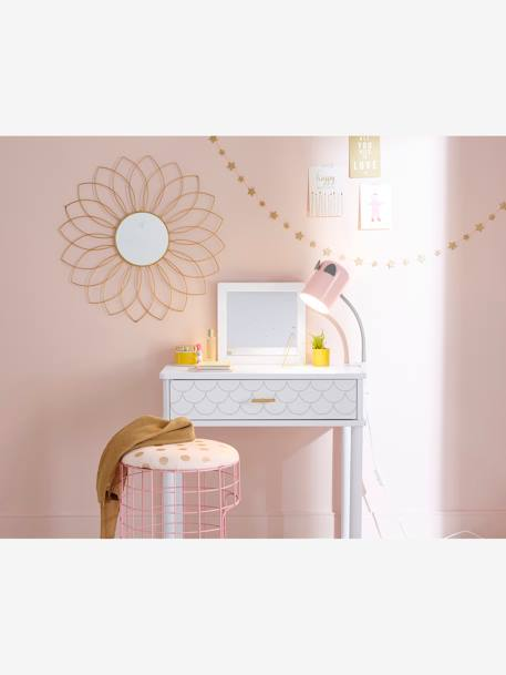 Dressing Table, Scales Theme WHITE LIGHT SOLID WITH DESIGN