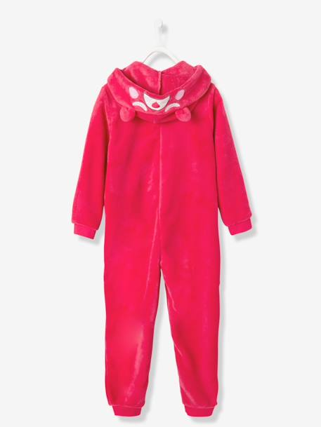Girls' Plush Knit Onesie RED LIGHT SOLID WITH DESIGN