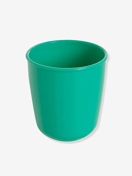 Set of 4 Multicoloured VERTBAUDET Cups GREEN MEDIUM SOLID