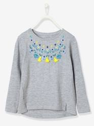 Girls-Girls' Embroidered T-Shirt