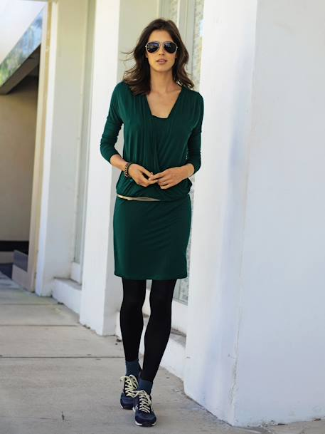 Adaptable Maternity & Nursing Dress Pine