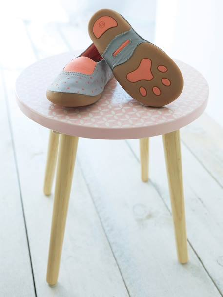 Girls' Shoes with Fancy Pompom GREY MEDIUM  ALL OVER PRINTED