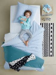 Furniture & Bedding-Children's Duvet Cover & Pillowcase Set, Chevron/Triangles