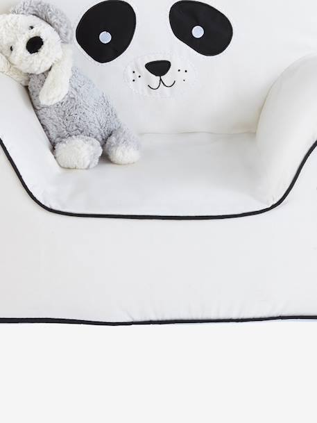 Foam Sofa, Panda BEIGE LIGHT SOLID WITH DESIGN