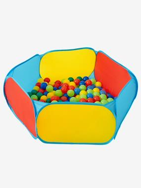 Image of Activity Playpen with Balls green medium solid with desig