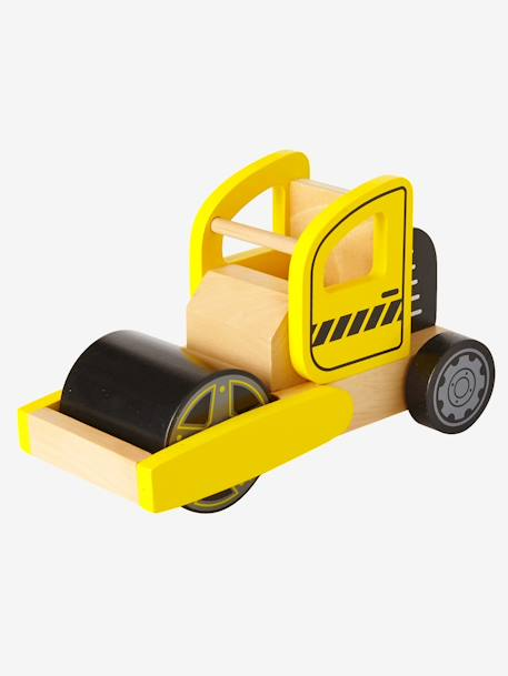 Wooden Steamroller YELLOW MEDIUM SOLID WTH DESIGN