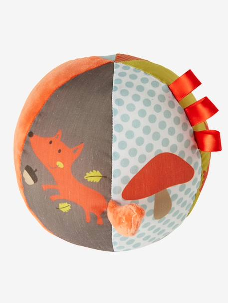 Fox Activity Ball ORANGE DARK SOLID WITH DESIGN