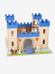 Toys-Playsets-Wooden Castle and Dolls