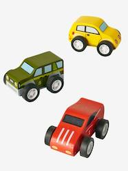 Set of 3 Wooden Cars