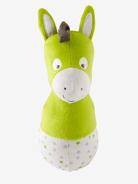 Plush Bowling Game, Cat & Friends GREEN MEDIUM SOLID WITH DESIG