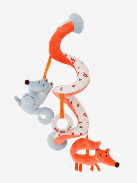 Fox-Wolf Activity Spiral, for Babies ORANGE MEDIUM SOLID WITH DESIG