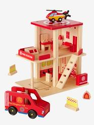 Toys-Cars & Trains-Wooden Fire Station & Accessories