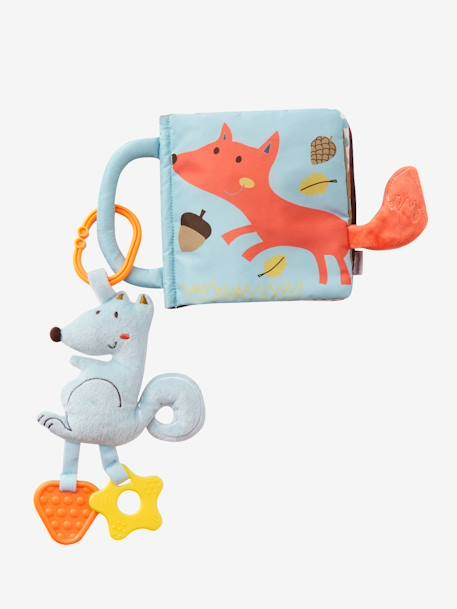 Activity Book & Soft Squirrel with Teethers BROWN LIGHT SOLID WITH DESIGN
