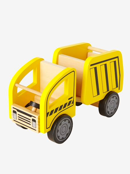 Wooden Dump Truck YELLOW MEDIUM SOLID WTH DESIGN