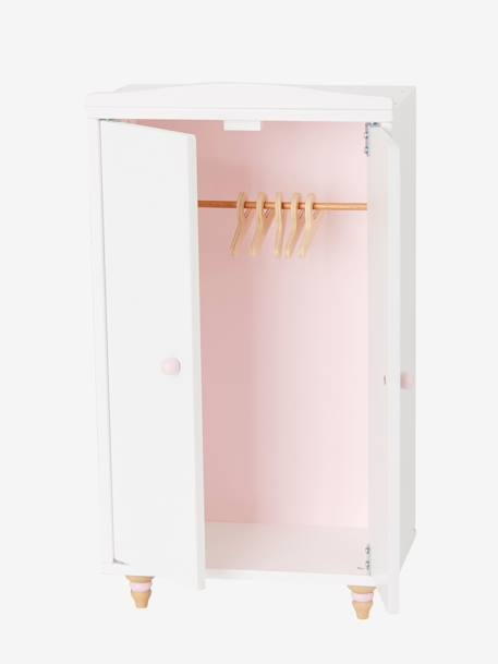 Doll's Wooden Wardrobe WHITE LIGHT SOLID