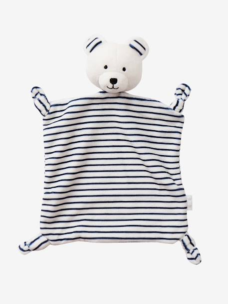 Teddy Bear WHITE LIGHT STRIPED