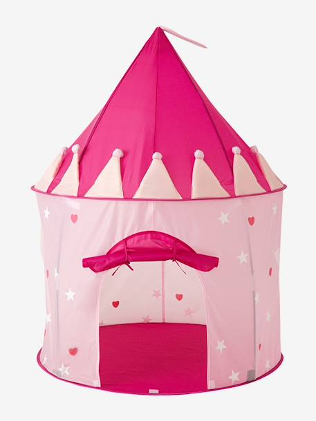 Girls' Play Castle Tent PINK LIGHT SOLID WITH DESIGN