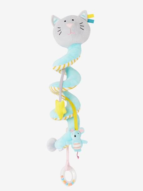Cat Activity Spiral, for Babies BLUE LIGHT SOLID WITH DESIGN