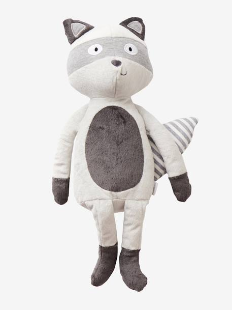 Plush Raccoon GREY MEDIUM SOLID WITH DESIGN