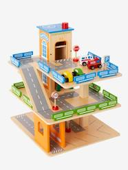 Toys-Wooden Car Park + Accessories