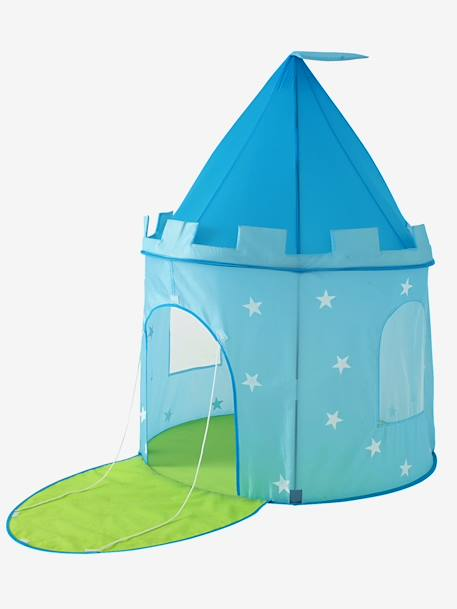 Castle Play Tent for Boys BLUE LIGHT SOLID