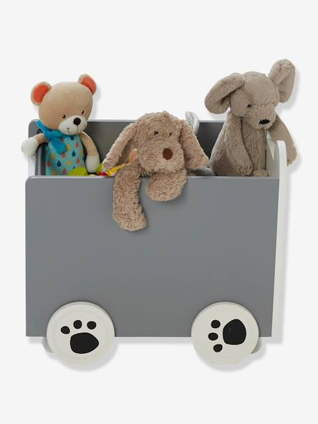 Storage Box with Wheels, Panda WHITE LIGHT SOLID