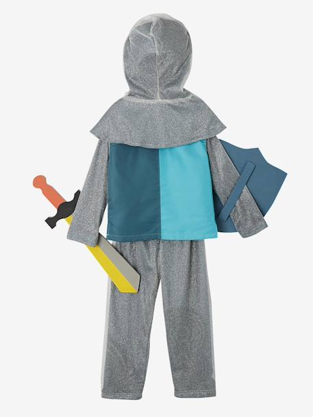 Knight Costume BLUE DARK SOLID WITH DESIGN