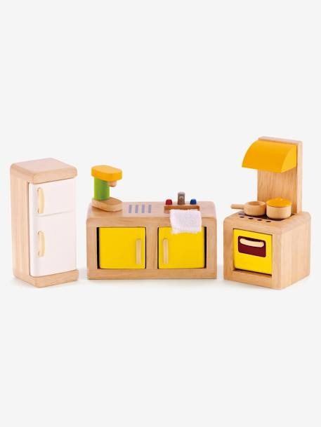 Wooden Kitchen, by Hape BEIGE LIGHT SOLID WITH DESIGN
