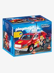 Toys-5364 Fire Chief's Car with Lights and Sound, by Playmobil